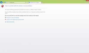 website security certificate warning