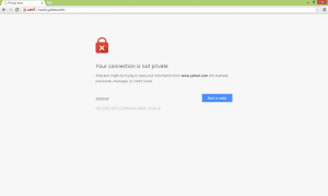 HTTPS security warning message