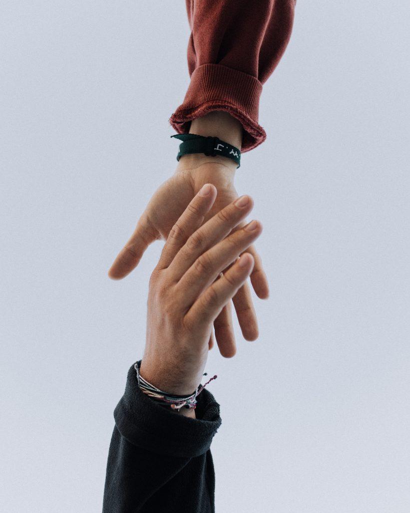 Hands losing grip