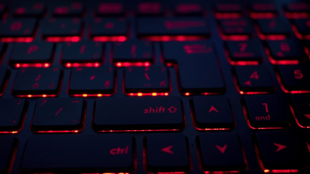 Keyboard lit up